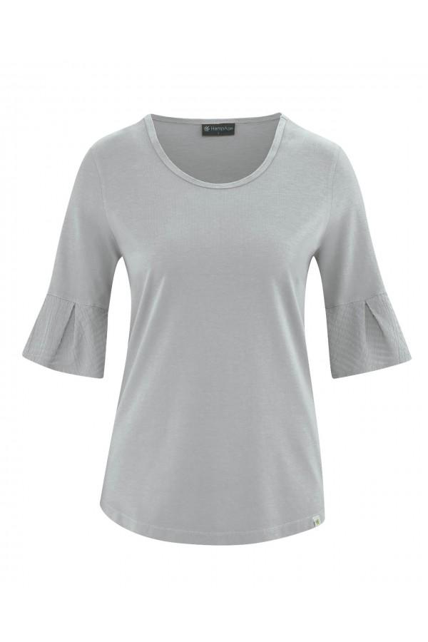 T-shirt à manches mi-longues chanvre et coton bio